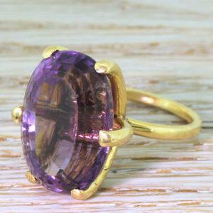purple amethyst ring
