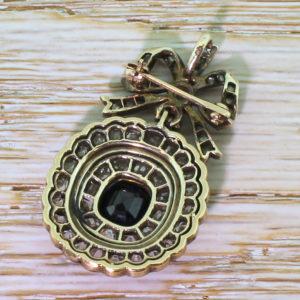 victorian sapphire brooch