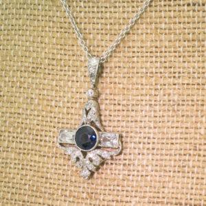 antique sapphire necklace