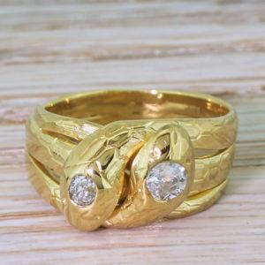 antique snake ring