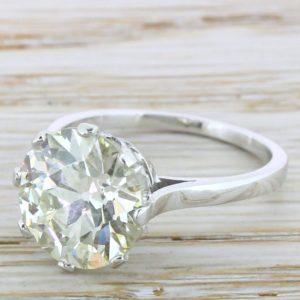 european cut diamond rings