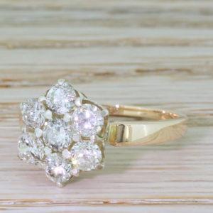 vintage diamond cluster