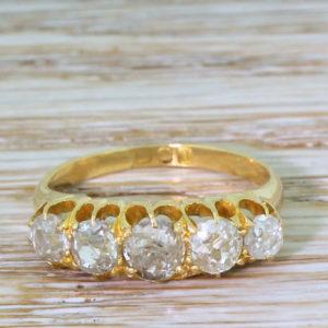 Edwardian five stone ring
