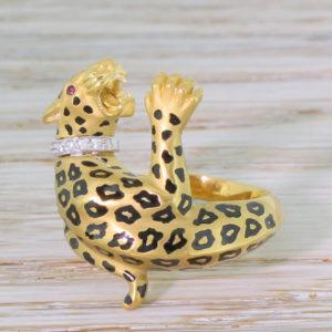 Carrera y carrera leopard ring